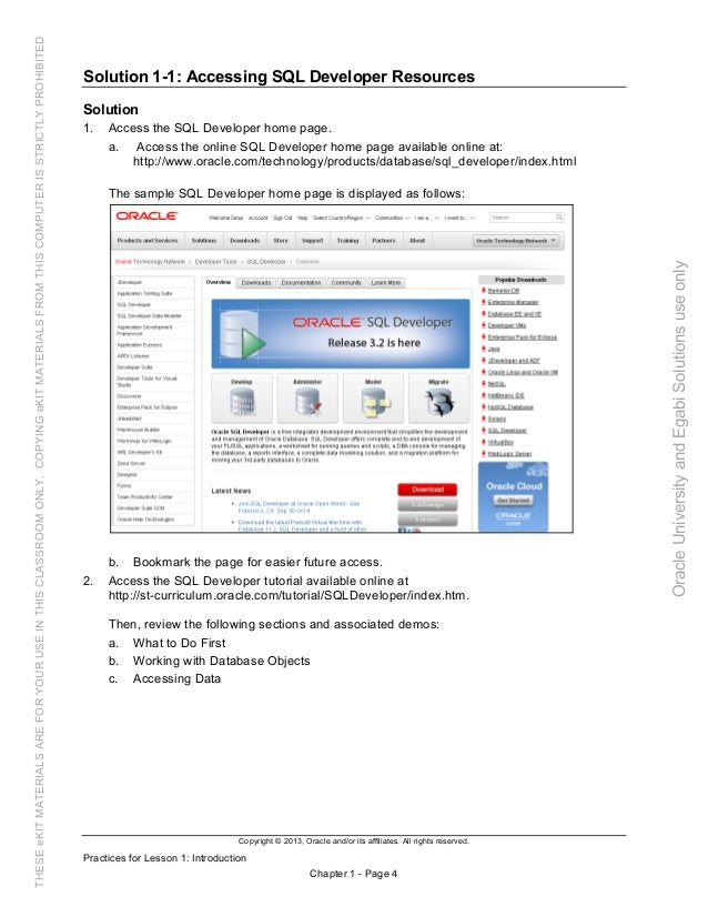 Oracle database 12c sql worshop 2 activity guide