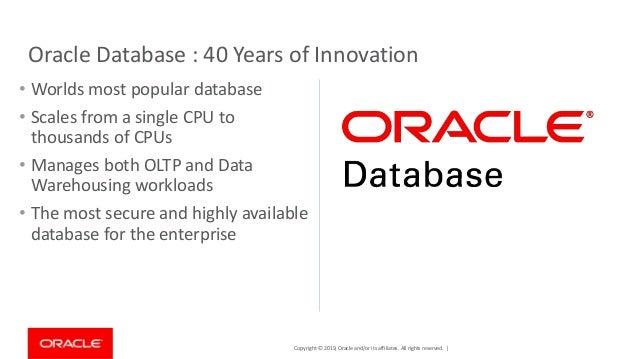 Oracle Database 19c - poslední z rodiny 12 2 a co přináší nového