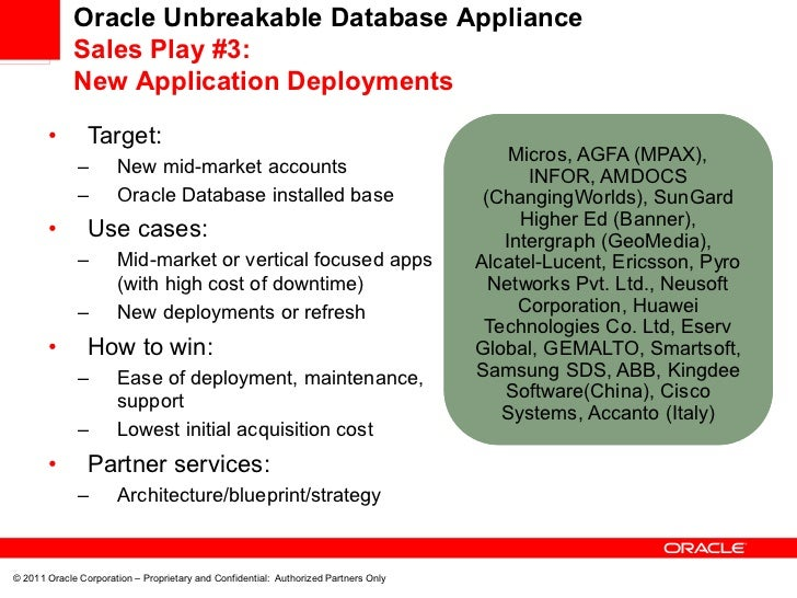 Oracle database appliance value proposition webcast oracle unbreakable database malvernweather