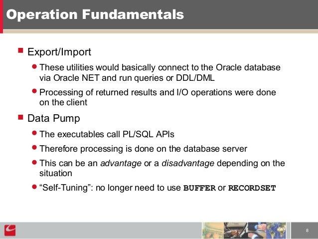 Oracle data pump