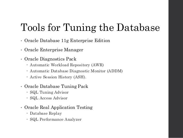 Oracle Database 11g: Performance Tuning Training Course