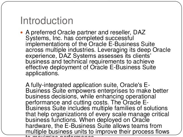 Oracle E-Business Suite Streamlines Complex Business Operations Slide 2
