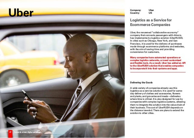 """27 Towards a new digital paradigm. Uber, the renowned """"collaborative economy"""" company that connects passengers with driver..."""