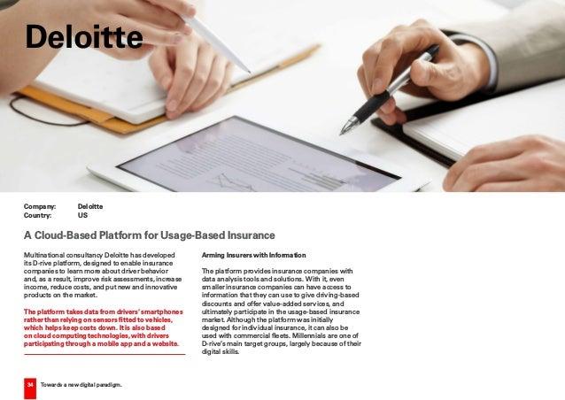 34 Towards a new digital paradigm. Multinational consultancy Deloitte has developed its D-rive platform, designed to enabl...