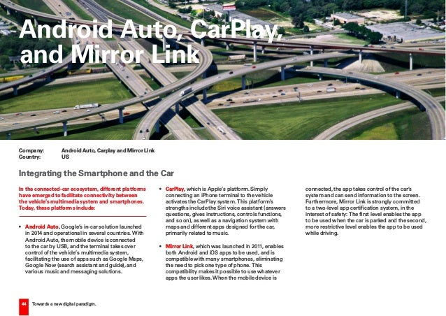 44 Towards a new digital paradigm. In the connected-car ecosystem, different platforms have emerged to facilitate connecti...