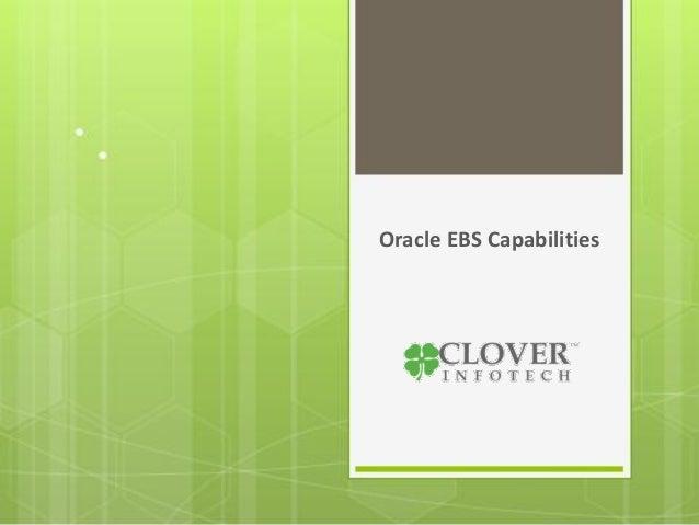 Oracle EBS Capabilities