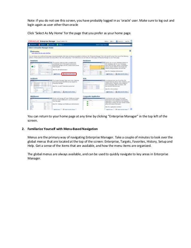 Oracle EMC 12C Grand Tour Slide 2