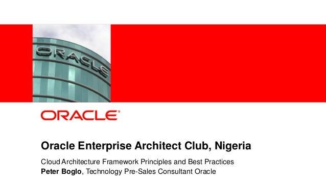 Oracle Enterprise Architects Day - Oracle enterprise architecture
