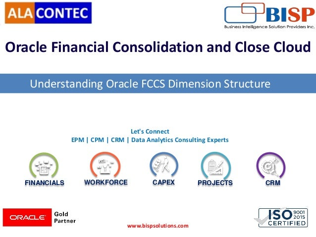 FINANCIALS WORKFORCE CAPEX PROJECTS CRM Let's Connect EPM | CPM | CRM | Data Analytics Consulting Experts Oracle Financial...
