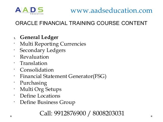 online oracle financial apps training hyderabad aads education