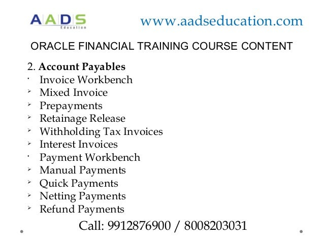 Online Oracle Financial  Apps Training HyderabadAads Education
