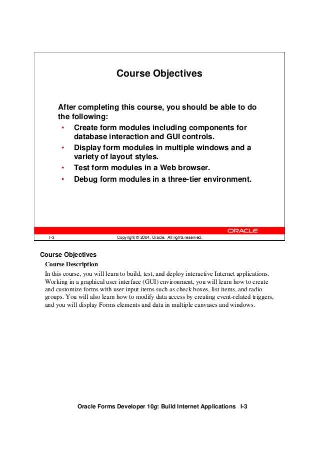 Oracle forms developer 10g vol1