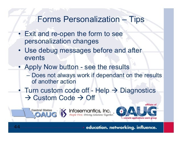Oracle Forms Personalization