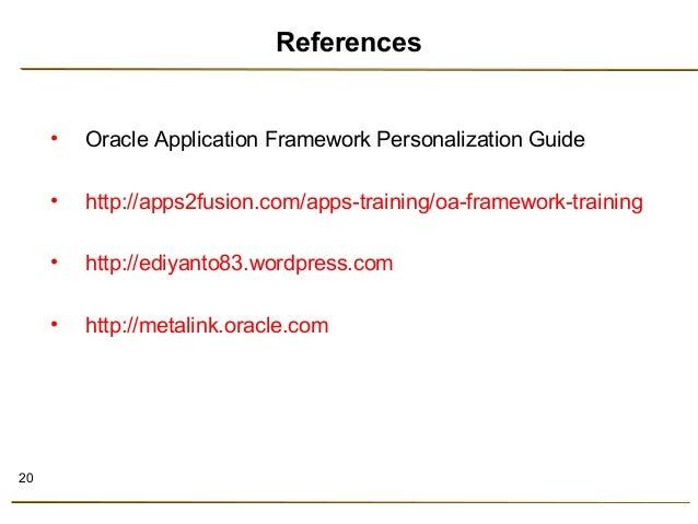 oracle framework personalization rh slideshare net oracle application framework personalization guide r12 oracle application framework personalization guide r12