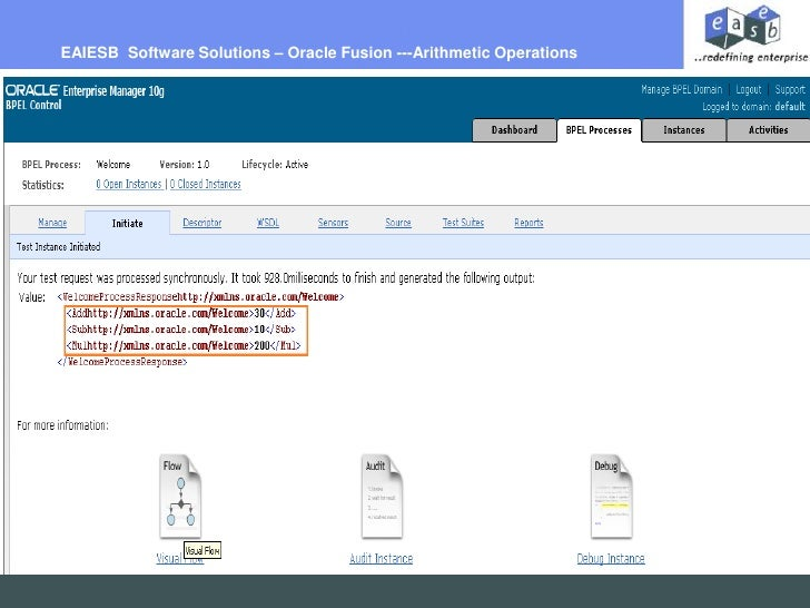 EAIESB  Software Solutions – Oracle Fusion ---Arithmetic Operations <br />