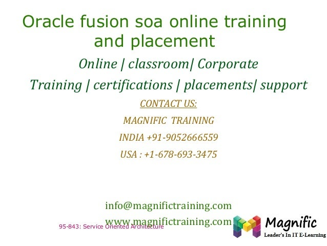 Oracle fusion soa online training and placement Online | classroom| Corporate Training | certifications | placements| supp...