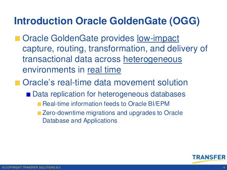 Oracle Goldengate Ogg
