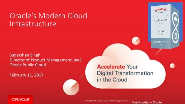 Copyright © 2016, Oracle and/or its affiliates. All rights reserved. | Oracle's Modern Cloud Infrastructure Sudershan Sing...