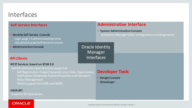 Oracle Identity Governance Technical Overview - 11gR2PS3