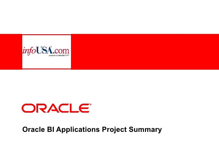 Oracle: Information's Business Impact -  Business Intelligence