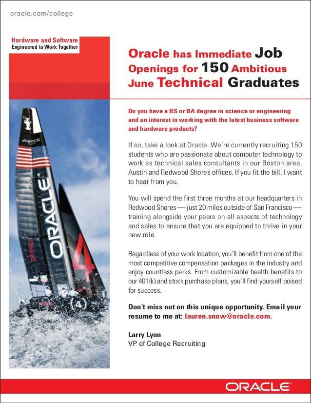 Oracle is hiring   spring 2013 Slide 2