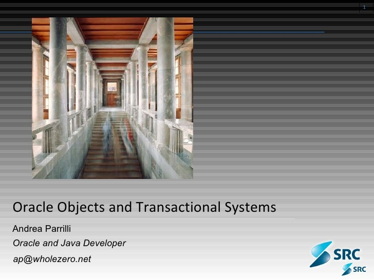 Oracle Objects and Transactional Systems Andrea Parrilli Oracle and Java Developer [email_address]