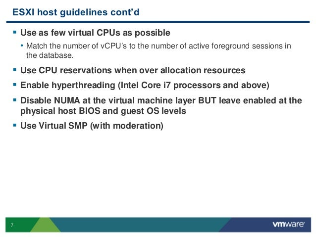Oracle on vSphere best practices