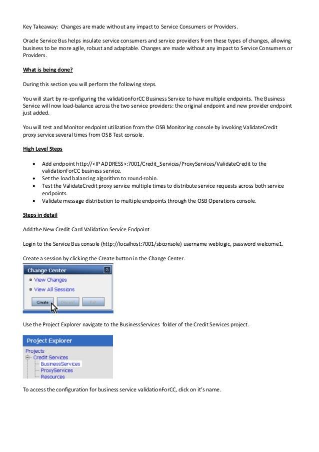 Oracle OSB Tutorial 2 Slide 3