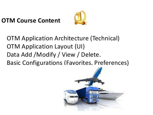Oracle Otm Training In Bangalore