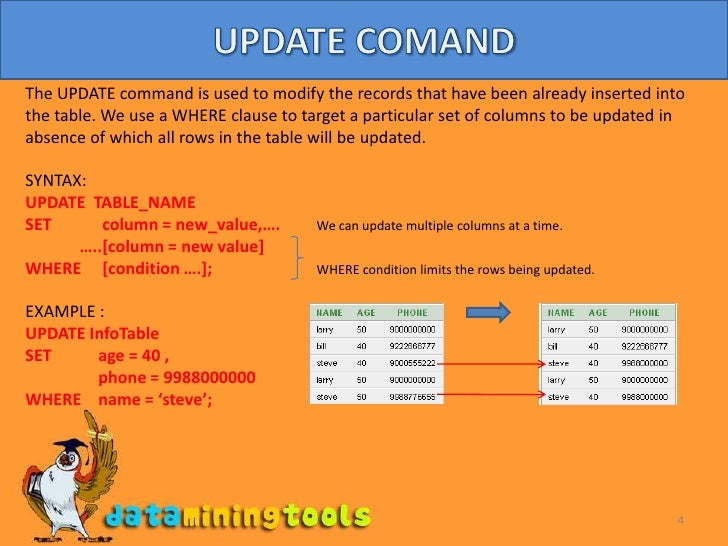 \u003cbr /\u003e; 4.  sc 1 st  SlideShare : update table set column - pezcame.com