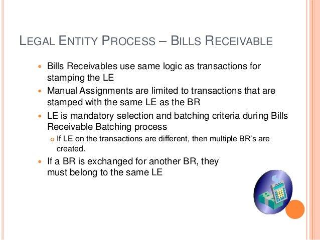 ... Accounting; 66. LEGAL ENTITY PROCESS U2013 BILLS RECEIVABLE ...  Bill Receivables