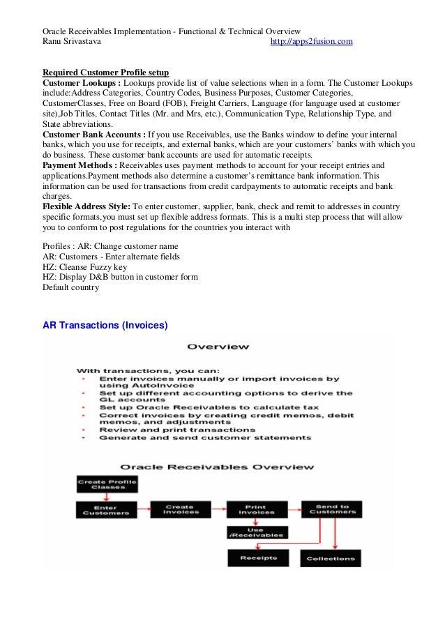 oracle receivables rh slideshare net