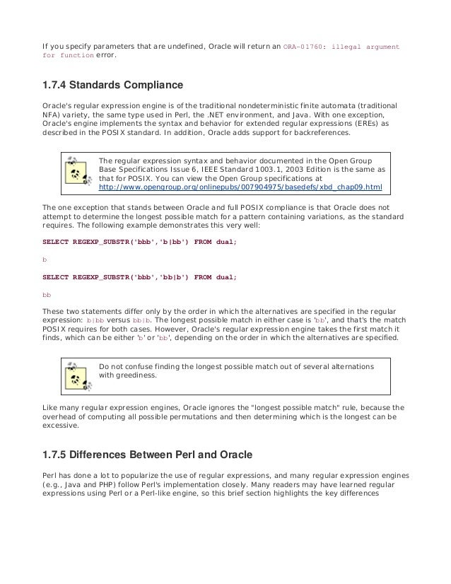 Oracle regular expressions