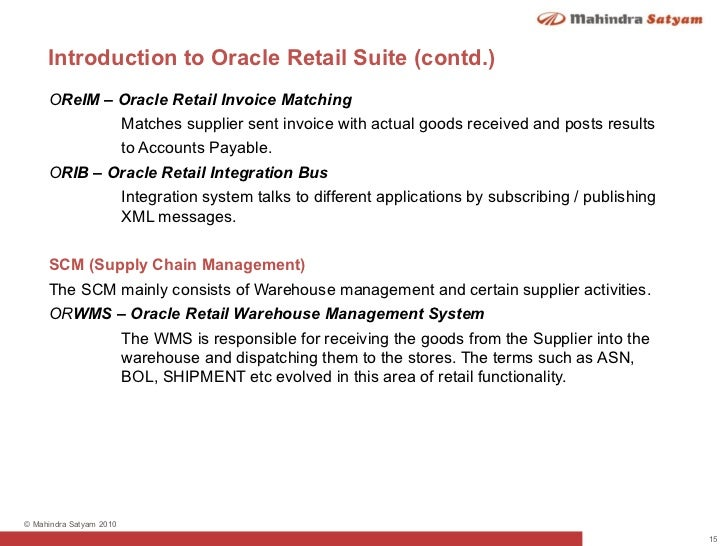 oracle retail introduction
