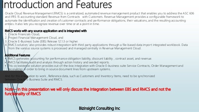 Oracle EBS(On Premise) and Oracle Revenue Management Cloud Integration