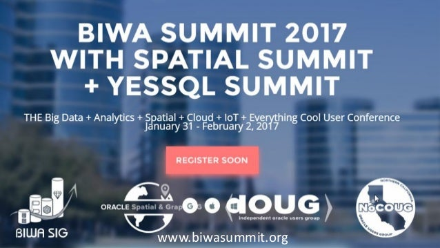 Copyright © 2016, Oracle and/or its affiliates. All rights reserved. |www.biwasummit.org