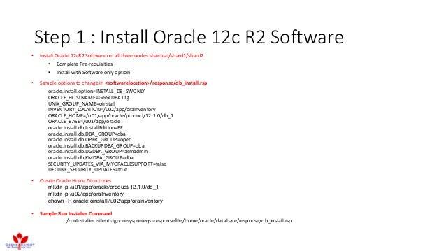 Oracle sharding : Installation & Configuration