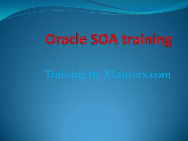 Training by XLtutors.com