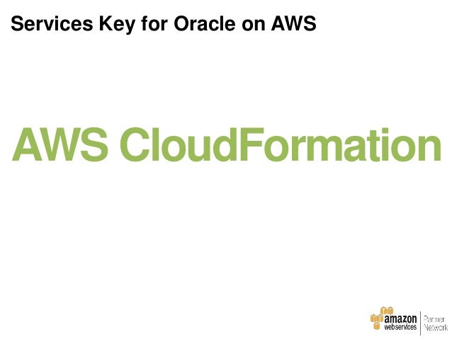 Setting up Oracle on your own Put together all the necessary AWS infrastructure components for networking, compute and sto...