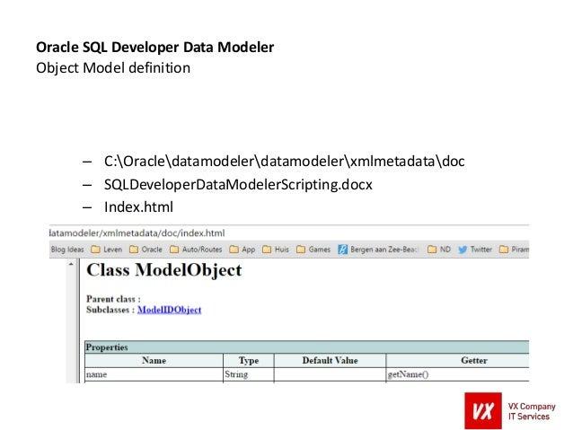 Generating Code with Oracle SQL Developer Data Modeler