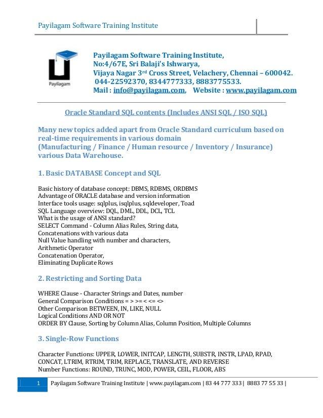 Payilagam Software Training Institute  Payilagam Software Training Institute, No:4/67E, Sri Balaji's Ishwarya, Vijaya Naga...