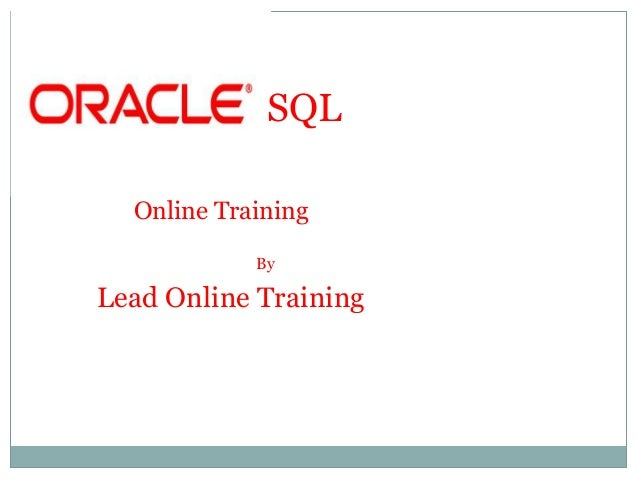 best oracle sql online training with certification