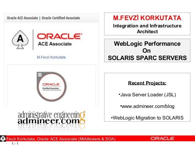 1 - 1 M.FEVZİ KORKUTATA Integration and Infrastructure Architect Recent Projects: •Java Server Loader (JSL) •www.admineer....