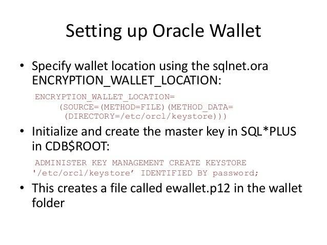 Oracle Transparent Data Encryption (TDE) 12c