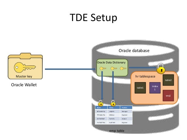Oracle Transparent Data Encryption (TDE) 12c