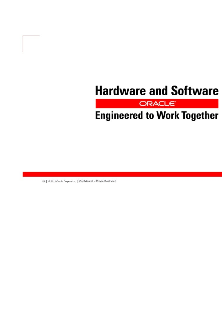 Oracle software and hardware