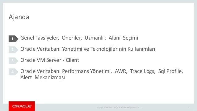 Oracle Veritabanı Yönetimi Slide 2