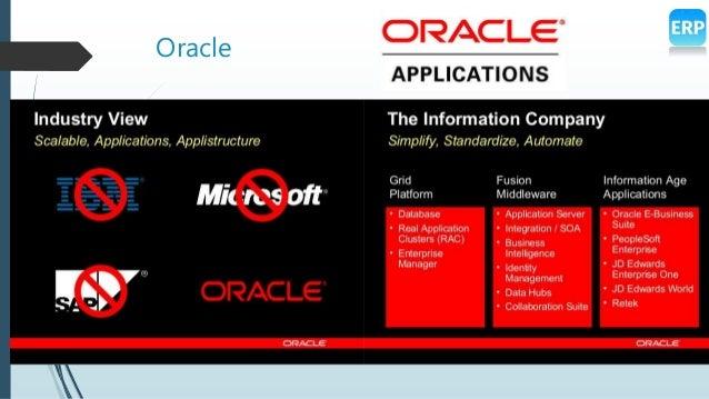 Oracle Vs SAP ERPs