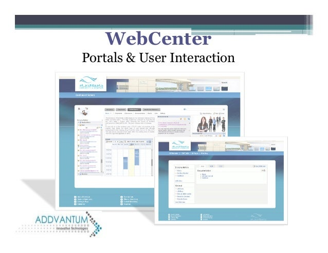 WebCenter Portals & User Interaction