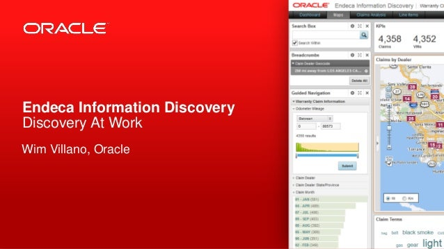 Endeca Information Discovery Discovery At Work Wim Villano, Oracle